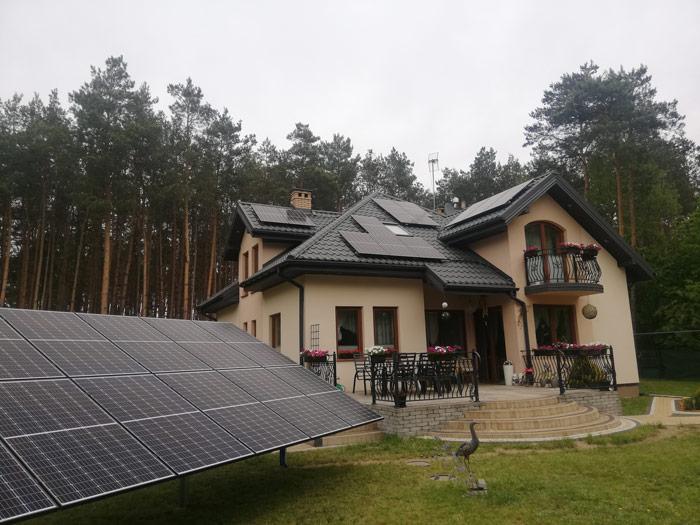 Fotowoltaika połączenie różnych typów montażu najednej instalacji - otwartaenergia.pl