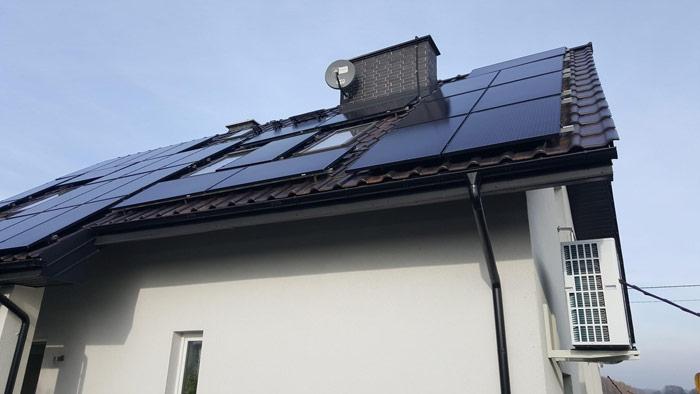 Przykładowa instalacja zestawu pompa ciepła + panele fotowoltaiczne - otwartaenergia.pl